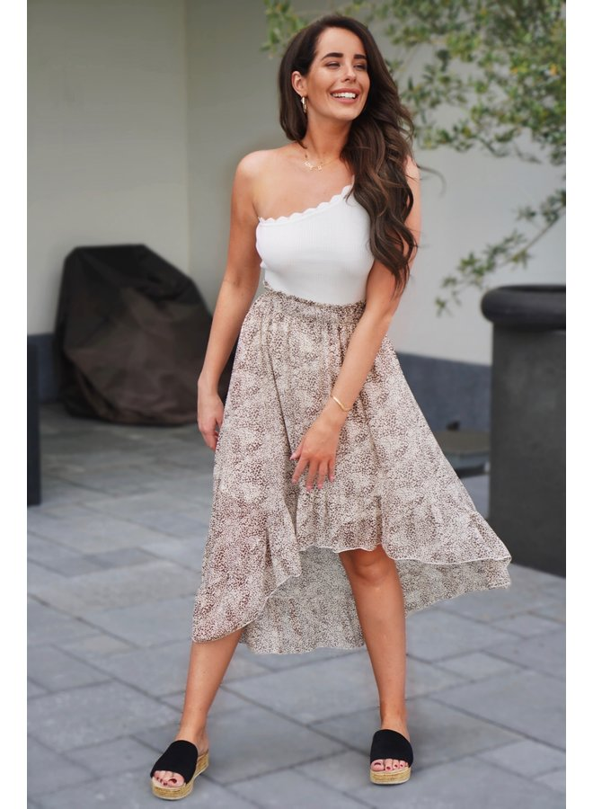 Chantal maxi skirt - beige
