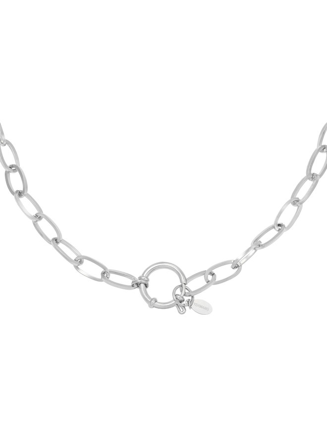 Eve chain necklace - silver