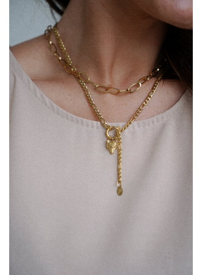Wolf necklace - gold