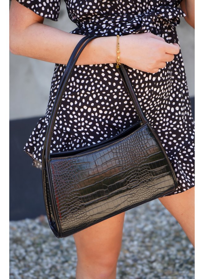 Iva croco bag - black