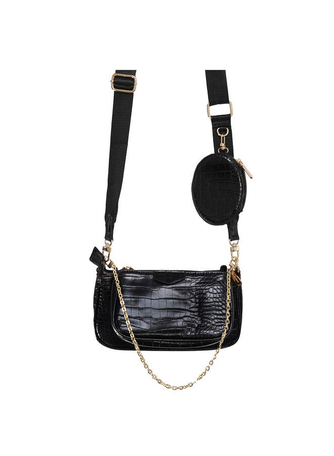 Loulou crossbody bag big - black