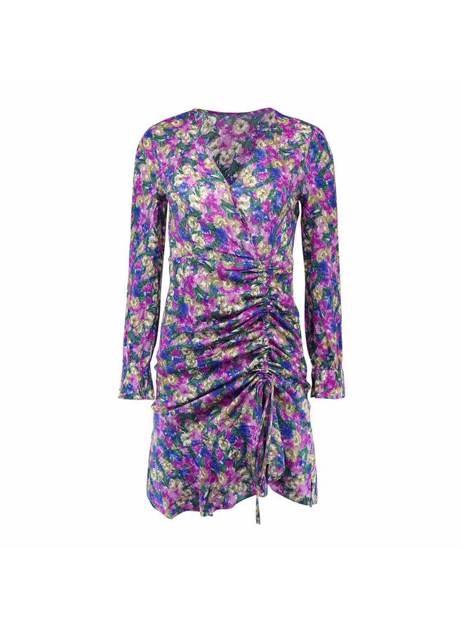 Sterre flower dress - purple
