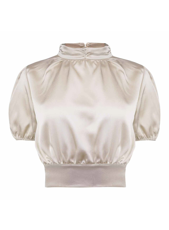 Bas open back top - gold