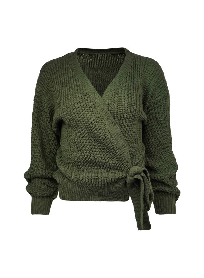 Liv cardigan - army green