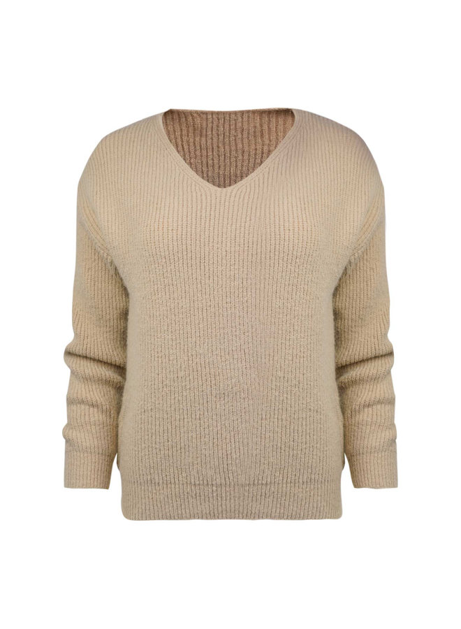 Sam knitted pullover - taupe