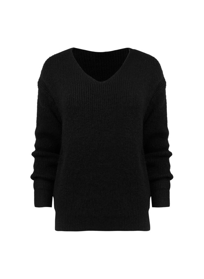 Sam knitted pullover - black