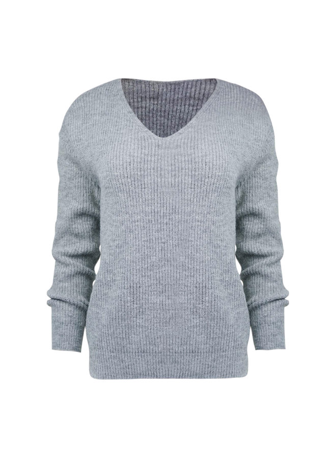 Sam knitted pullover - grey
