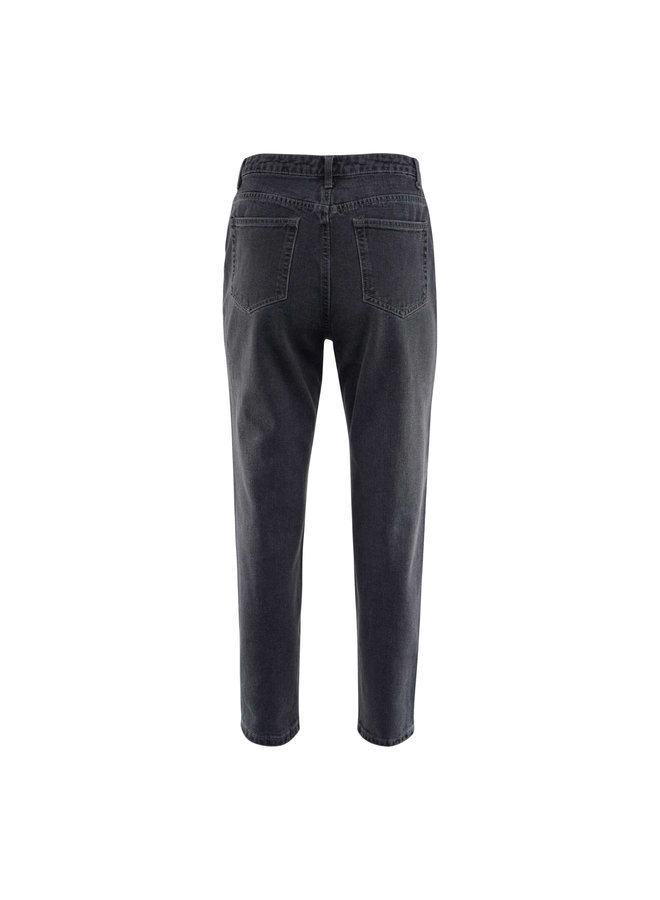 Isa destroyed mom jeans - grey