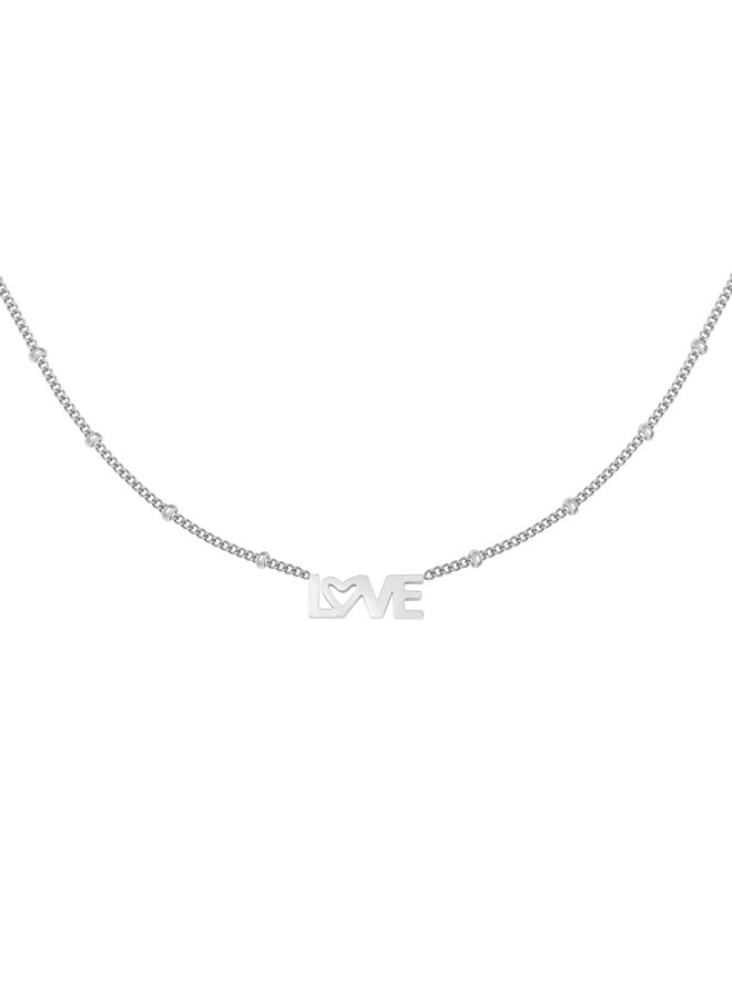Soof love necklace - silver