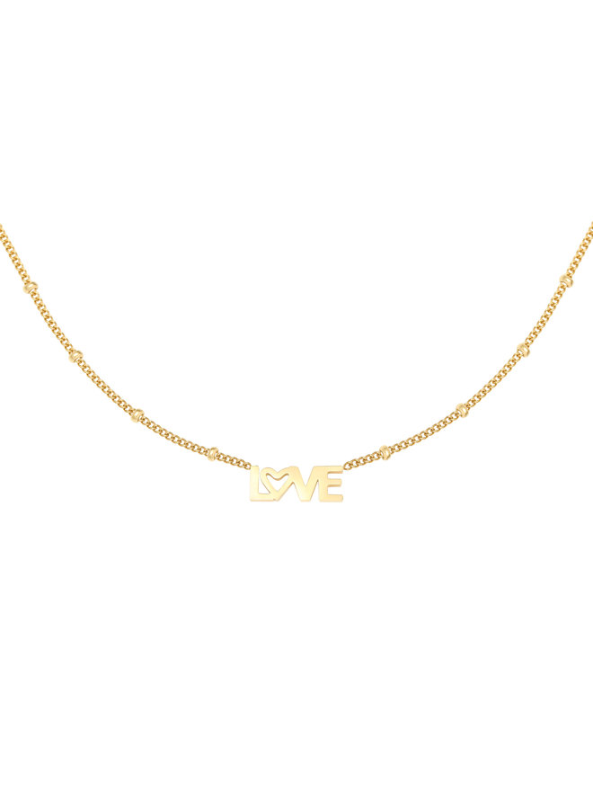 Soof love necklace - gold