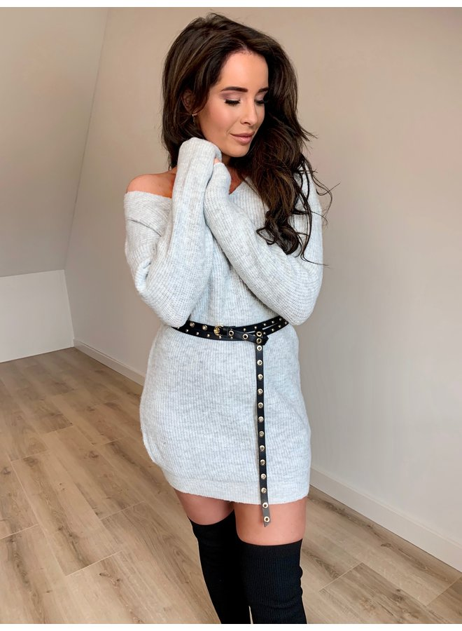 Anne knitted dress - grey