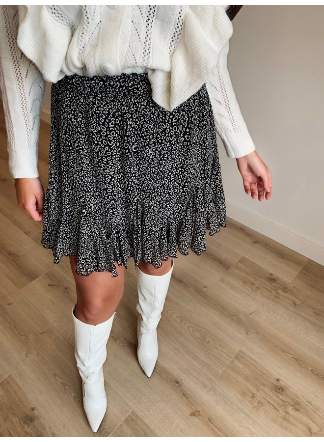 kyra leo skirt - black