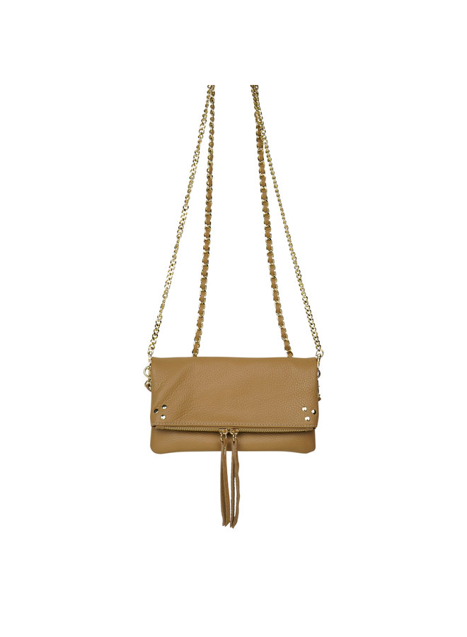 Volly leather bag - camel