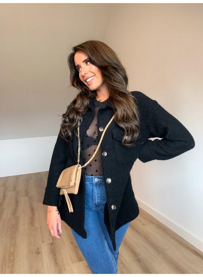 Fenne  jacket - black