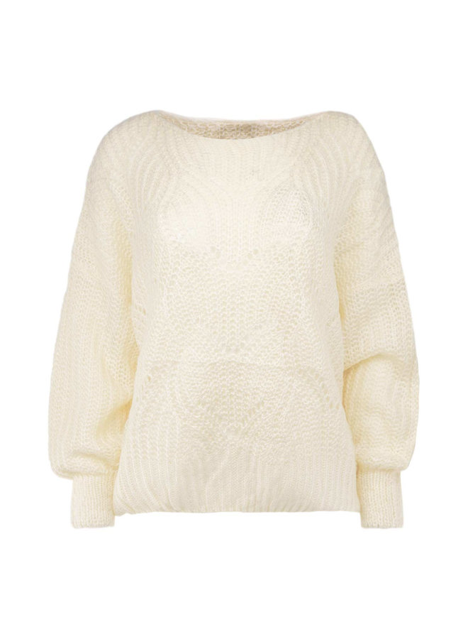 Sanne knitted pullover - creme