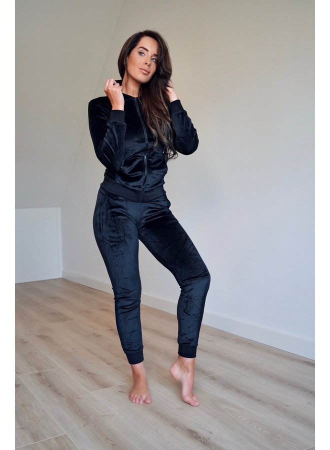 Lisa velvet comfy set - black