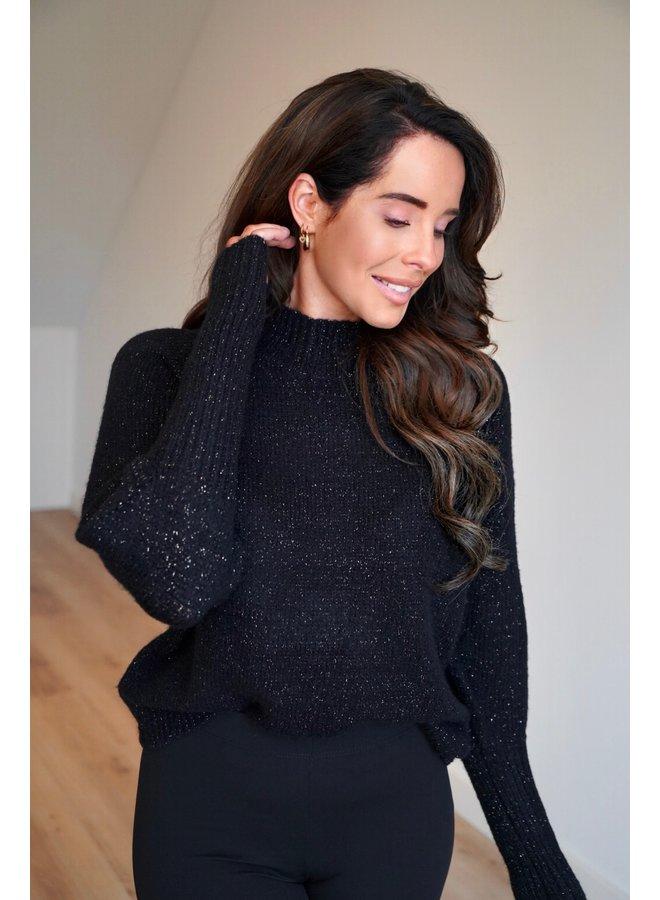 Jana glitter pullover - black