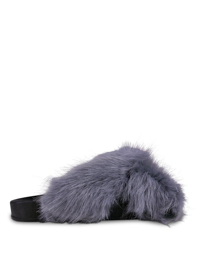 Maxime fluffy slippers - grey