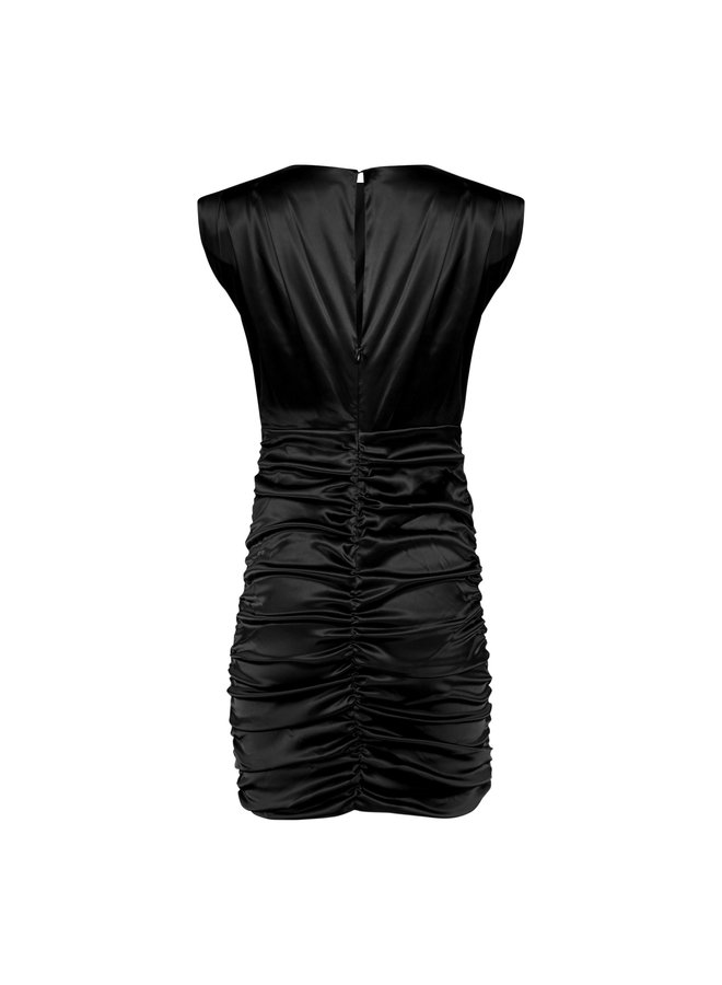Lauren satin dress - black