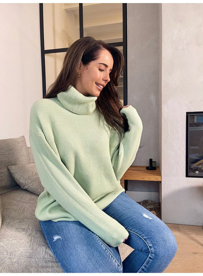 Emily knitted pullover - green
