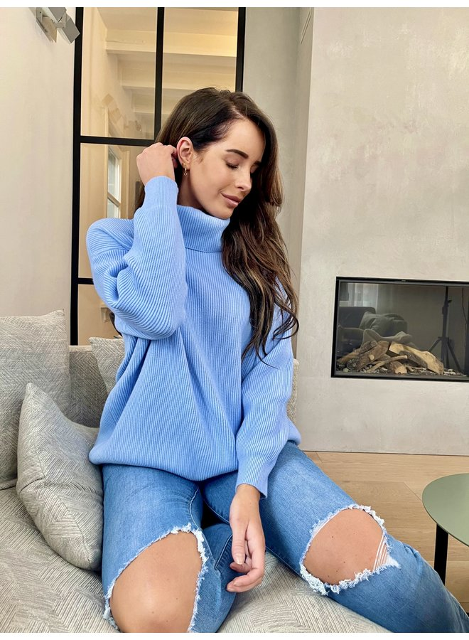 Emily knitted pullover - blue