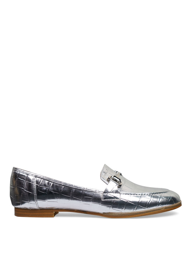 Lizzy croco loafers - silver