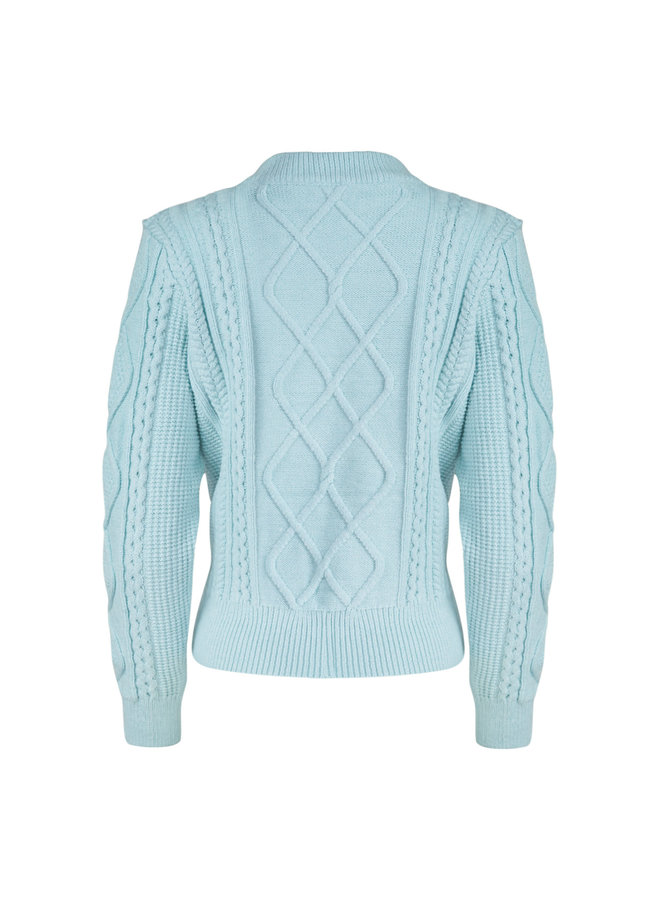 Cable pullover - mint