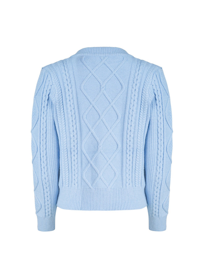 Cable pullover - blue