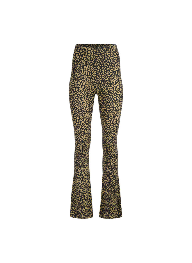Elin leo flared pants - black/brown