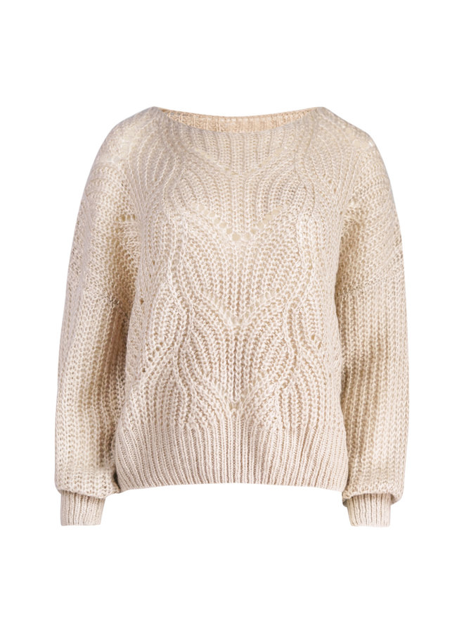 Lis knitted pullover - beige