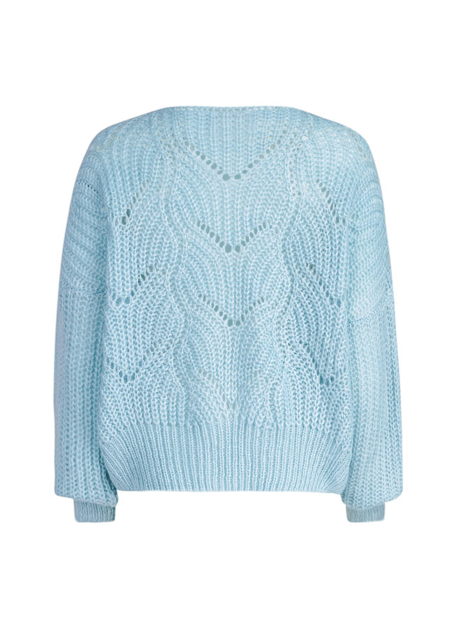 Lis knitted pullover - blue
