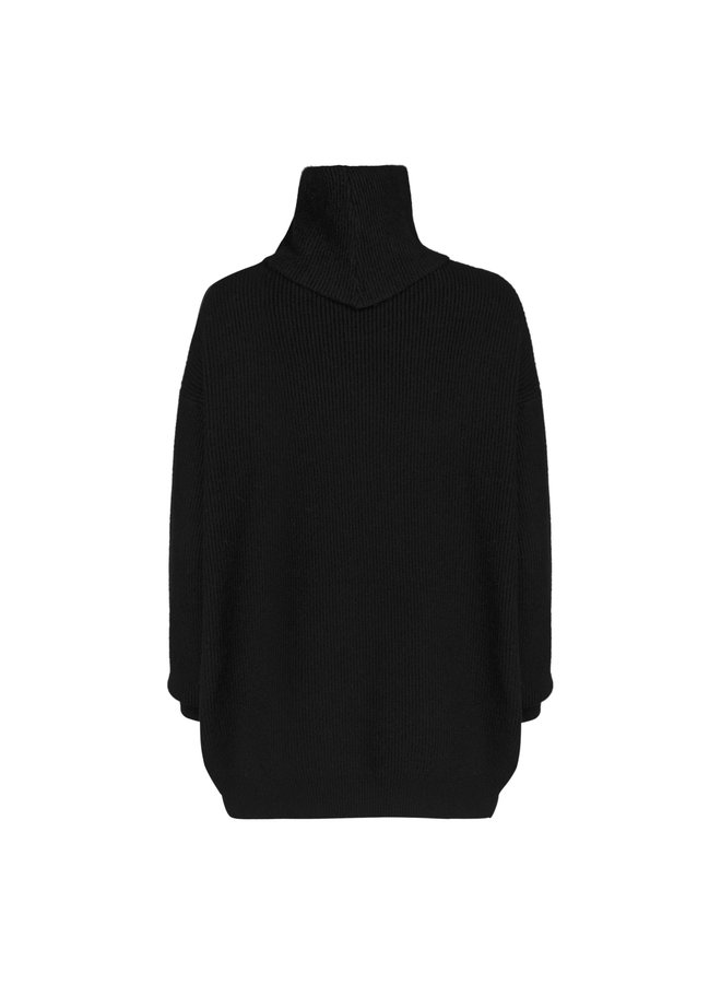 Emily knitted pullover - black