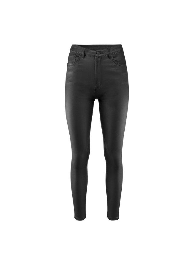 Nynke leatherlook pants - black