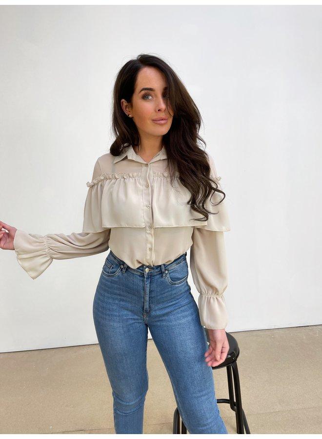 Sara split jeans - blue