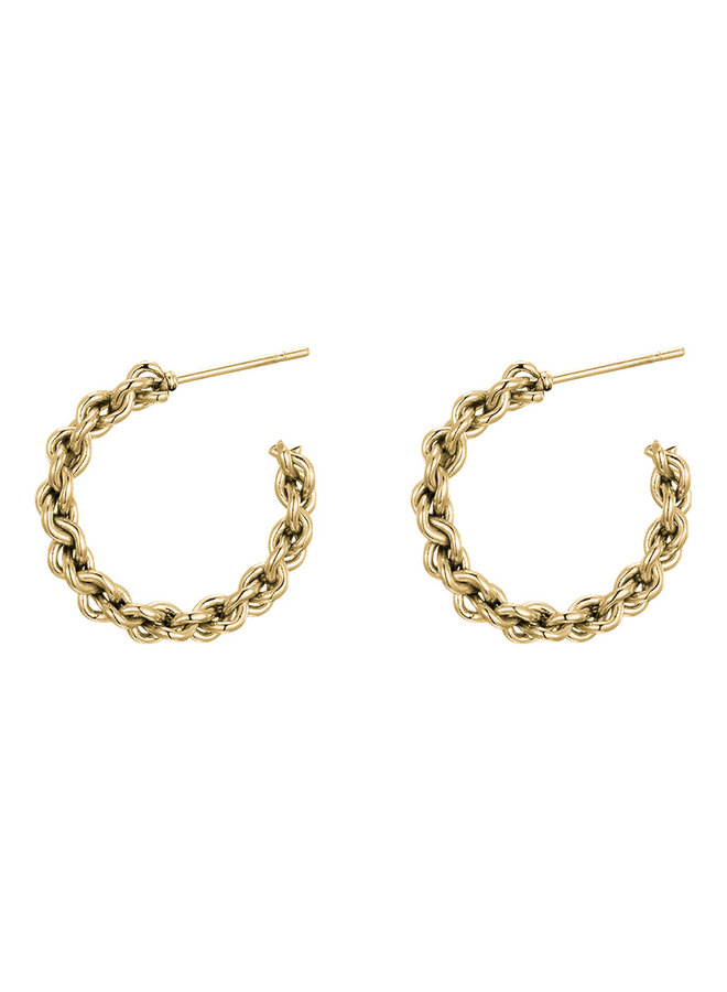 Florine small chain hoops - gold