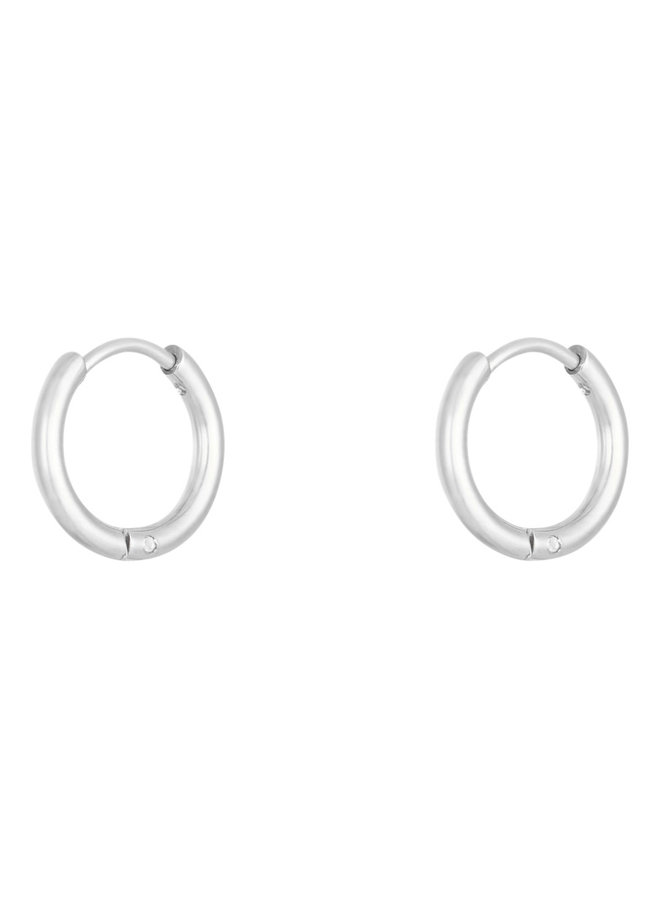 Jaimy small hoops - silver