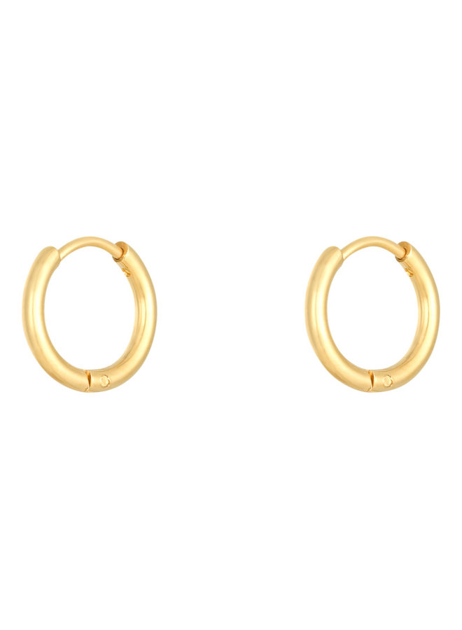 Jaimy small hoops - gold