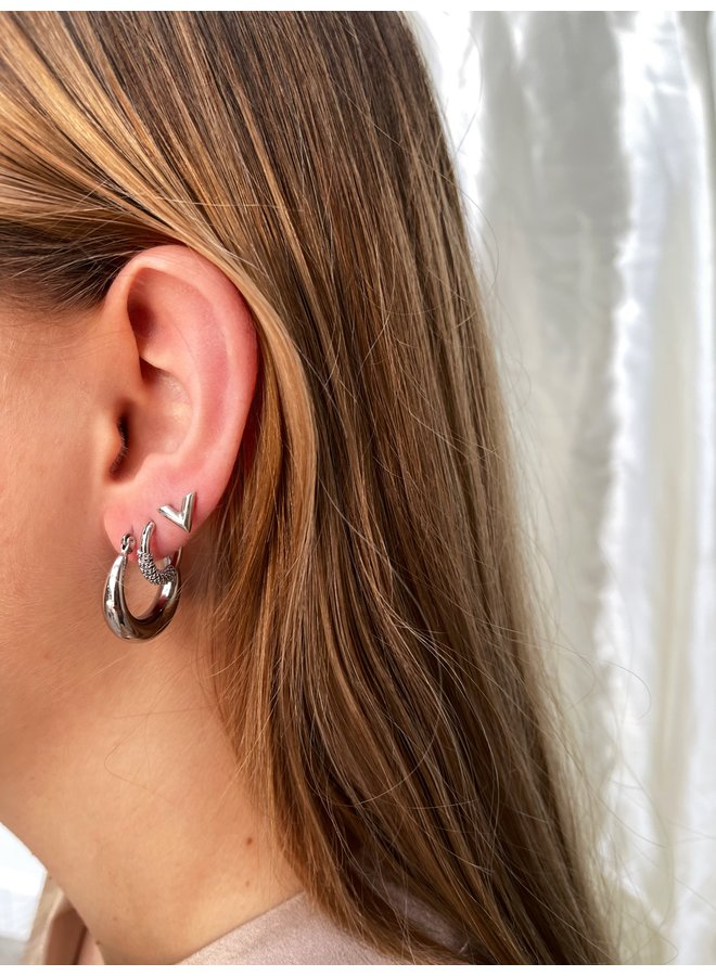 Claire hoops - silver