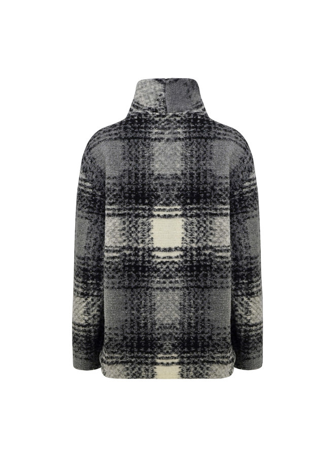 Juul checkered pullover - grey/black