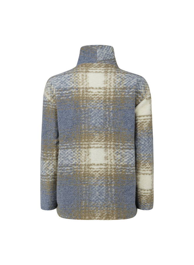 Juul checkered pullover - light grey/taupe