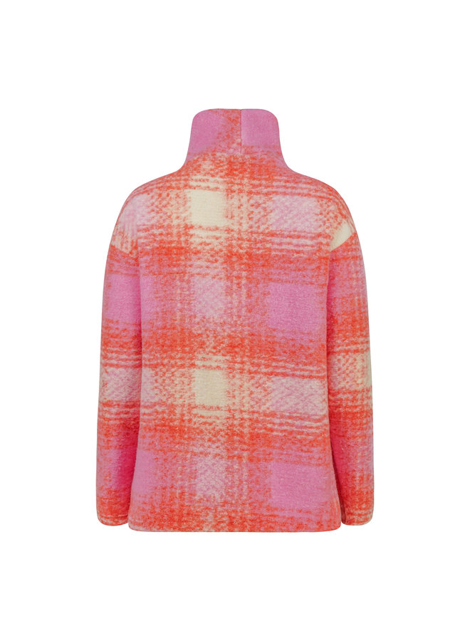 Juul checkered pullover - pink/orange