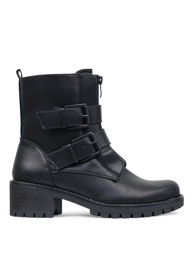 Tess buckle boots - black