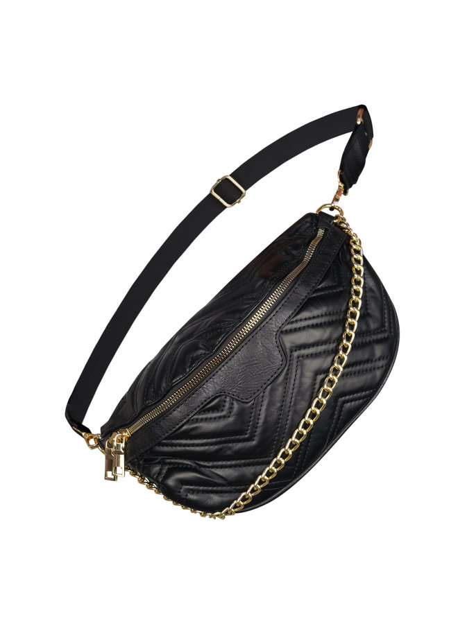 Violet belt bag - black