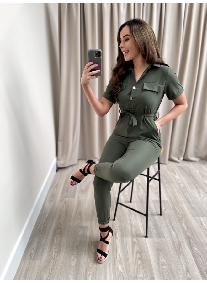 Balou jumpsuit - army green