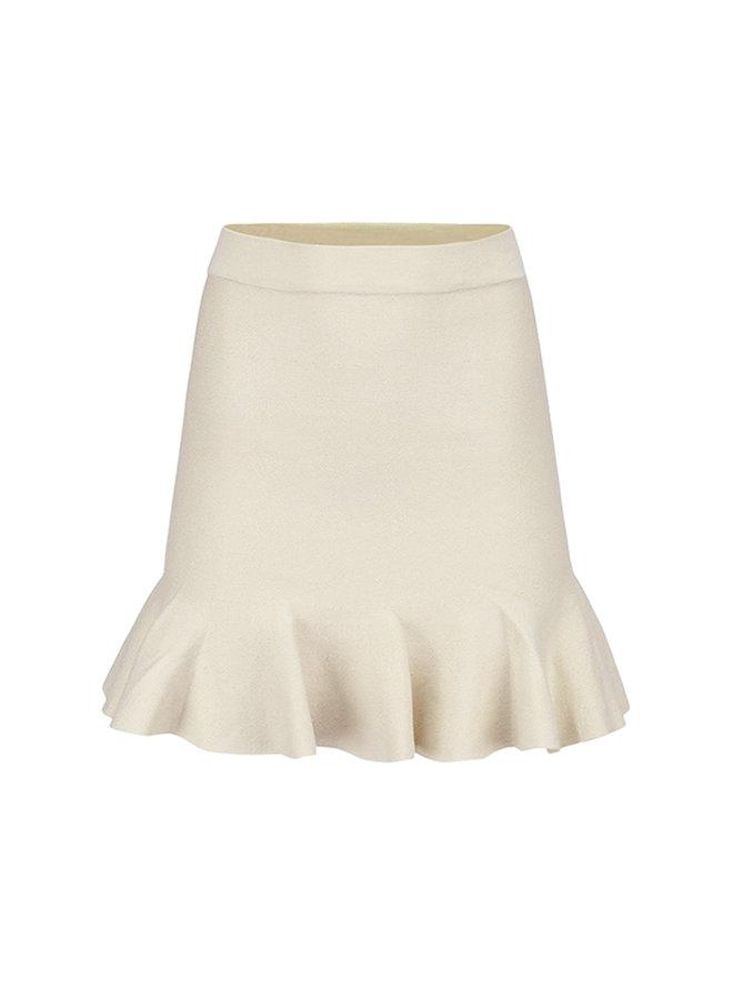 Bibi ruffle skirt - beige