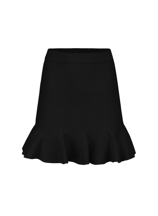 Bibi ruffle skirt - black