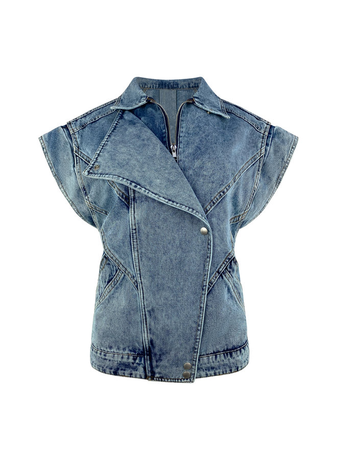 Karlijn denim gilet - blue