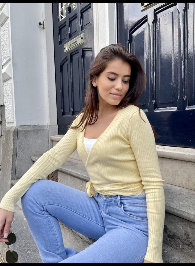 Gigi wikkeltop - light yellow