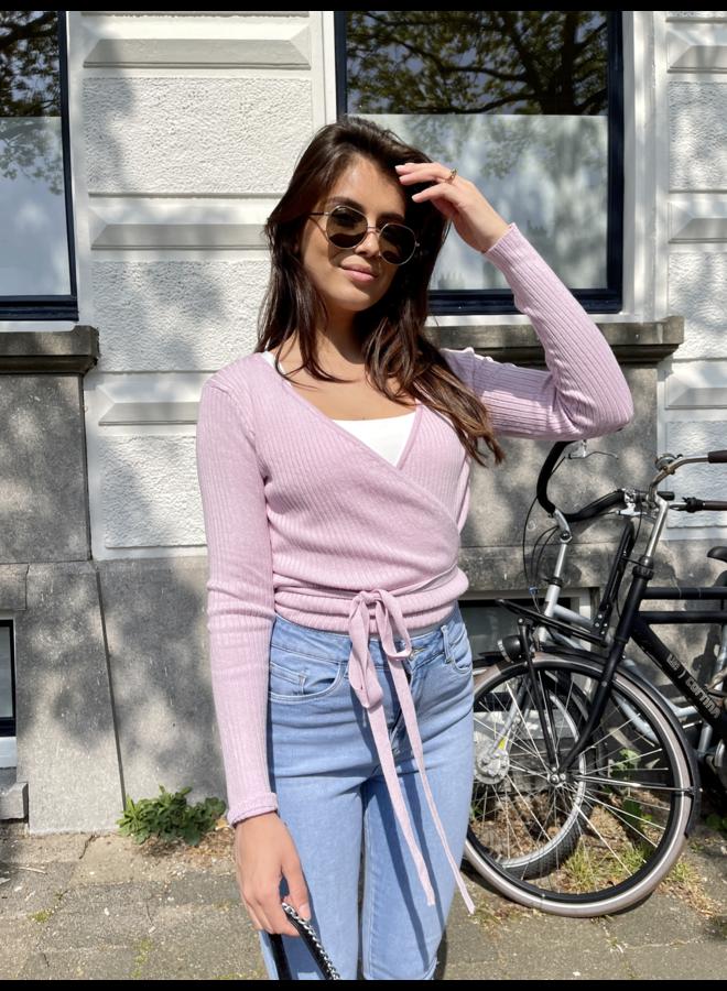 Gigi wikkeltop - lila