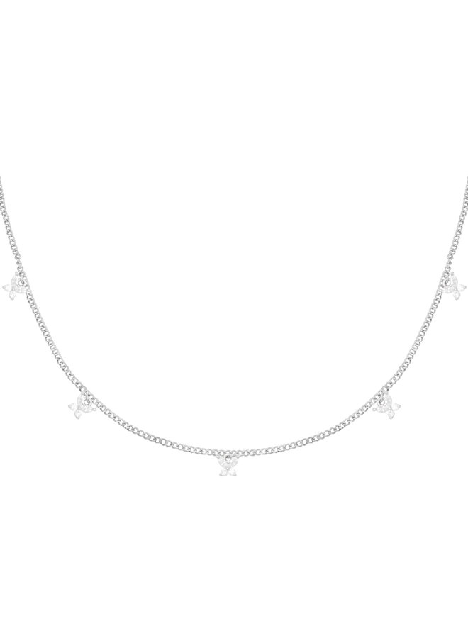 Isabelle butterfly necklace - Silver